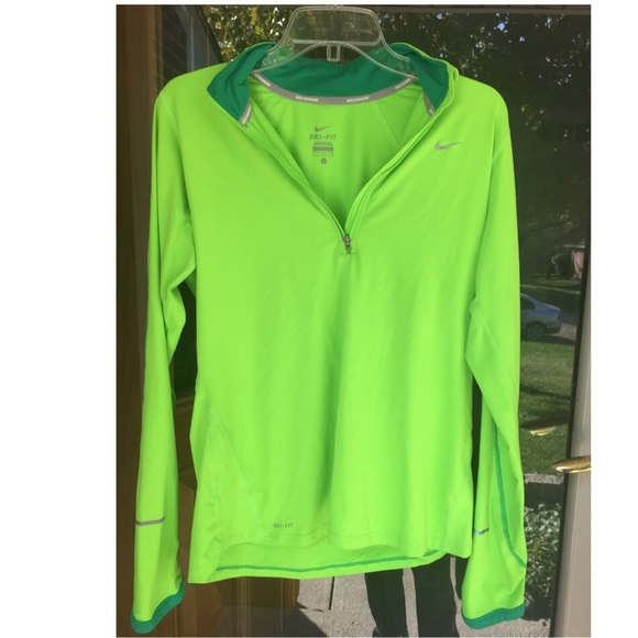 hot sale online 7048f a2c13 Neon Green Men's Nike Running 1/4 Zip Pullover